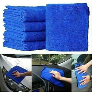 10x-Blue-Microfibre-Cleaning-Auto-Car-Detailing-Soft-Cloths-Wash-Towel-30cm-30cm