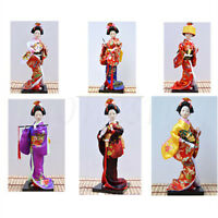 6 Style Oriental Japanese Brocade Doll Kimono Kabuki Geisha Doll Figure Figurine