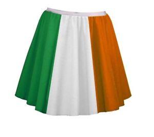 Ladies-18-034-Irish-Flag-Skater-Panel-Skirt-Plus-Size-St-Patricks-Day-Fancy-Dress