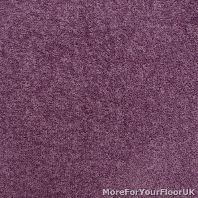 Purple Carpet Violet Feltback Twist, Bedroom, Lounge, Cheap, Any Size, 4m Wide