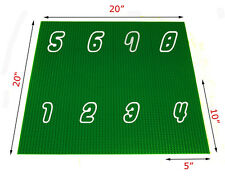 """1 lego + 8x Green 10""""x5"""" Generic Baseplate,cover 20x20 playing actitivy table"""