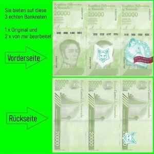 3 ECHTE Banknoten / 2 davon von mir bearbeitet: MONEY MAKES ME LOOK SEXY