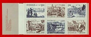 Sweden-1986-Sc-1513a-MEDIEVAL-TOWN-MNH-Stamp-Booklet-CV-8