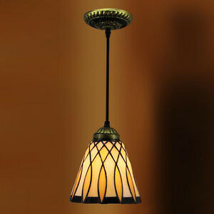 Details About Glass Shade Shade Tiffany Style Mini Pendant Light Hanging Ceiling Lamp Fixture