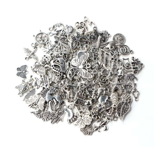 Wholesale 100pcs Bulk Lots Tibetan Silver Mix Charm Pendants Jewelry DIY Xmas!