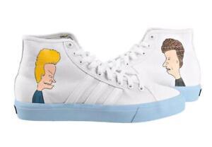 Blue Soles White Skateboard Shoes