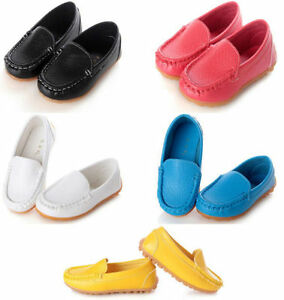 Kids-Boys-Girls-Toddler-Soft-Loafers-Slip-On-Oxford-Flats-PU-Boat-Shoes