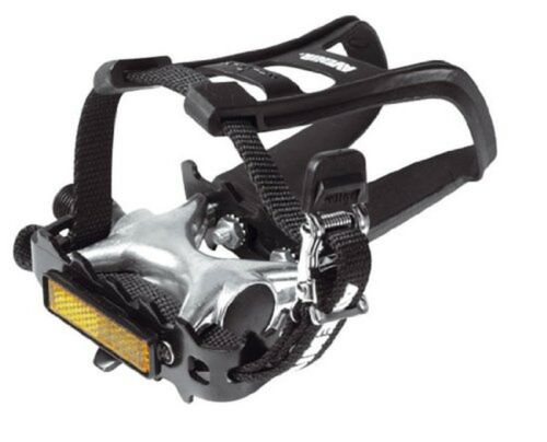 Raleigh Pedals Toe Clip and Strap Combination Black 9//16 Inch