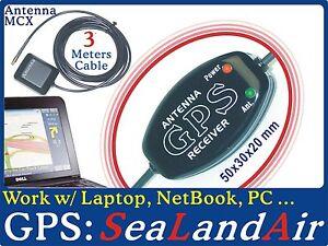 GPS-Receiver-4-Laptop-PC-Tablet-USB-Marine-Chartplotter-Boater-3M-MCX-Antenna-G9