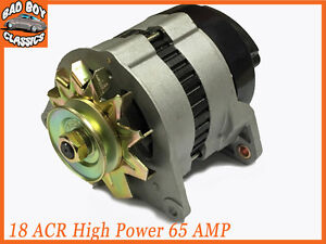 18ACR-High-Output-65-Amp-Alternator-Pulley-amp-Fan-Fits-FORD-PINTO