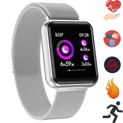 2.5D Smartwatch OLED P68 Bluetooth Fitness Pulsuhr Magnetverschluss iOS Samsung