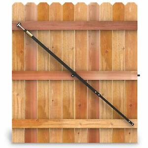 Details about True Latch Telescopic Fully Adjustable Gate Brace - Wood  Privacy Fence Anti S