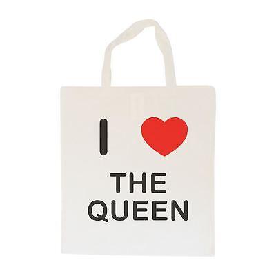 Adoro La Borsa Queen-cotone | Taglia Scelta Tote Shopper, O Sling-mostra Il Titolo Originale Aiutare A Digerire Cibi Grassi