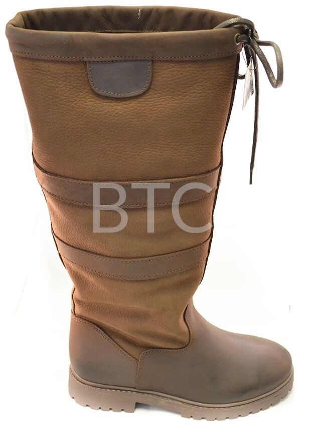 Damenschuhe NEW LADIES BOOT HORSE RIDING WATERPROOF LEATHER COUNTRY YARD BOOT LADIES SIZE 3-8 969ac3