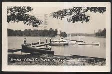 RP Postcard HONEY HARBOR Ontario/CANADA  Hall's Cottages Boat Docks view 1940's