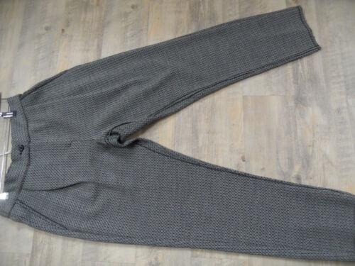 OTTOD AME chice gemusterte Hose Jersey Wolle grau schwarz Gr 40 NEU ScM318
