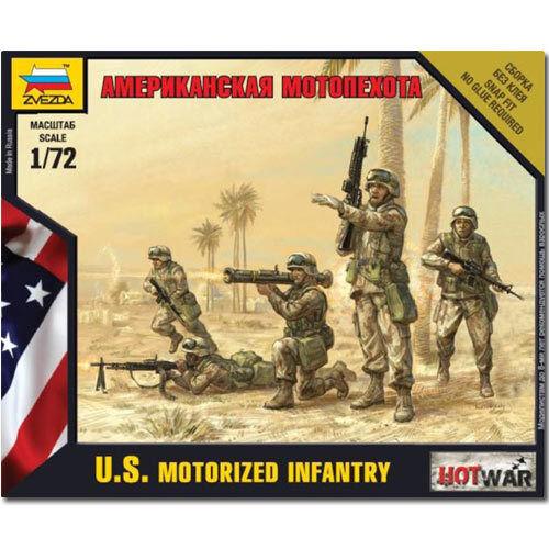 ZVEZDA 7407 American Motorized Infantry Snap Fit Model Kit 1:72 Hotwar