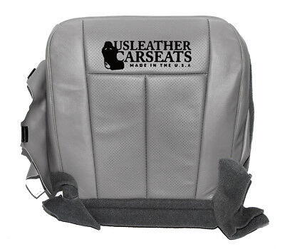 2008 F250 Lariat Synthetic Leather Driver Bottom Seat Cover medium Stone Gray