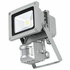 MOVEMENT SENSOR FLOOD LIGHT LAMP 10w=100w LOW ENERGY LED PIR OUTDOOR SECURITY