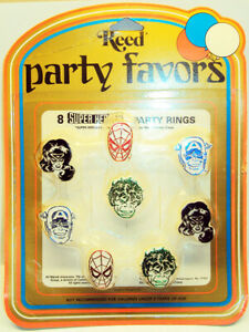 Marvel-Superhero-Toy-Rings-Unopened-Sealed-Package-1981-RARE