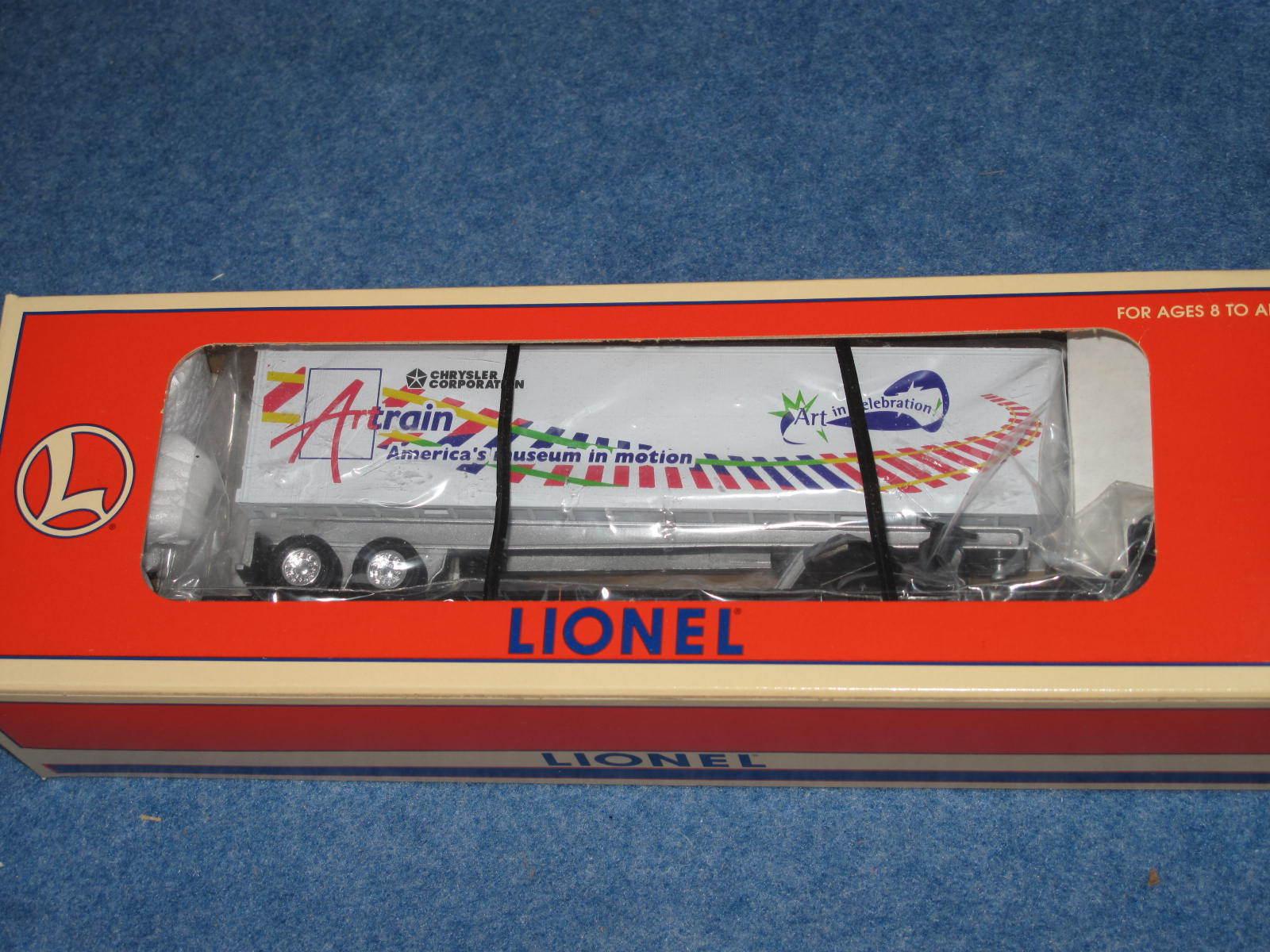 1997 Lionel 6-19425 Artrain CSX Flatcar with Trailer Chrysler Corp Nuovo L2271