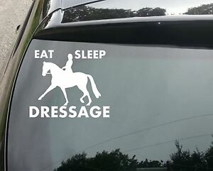 LARGE-Eat-Sleep-Dressage-Funny-Van-Car-JDM-VW-DUB-VAG-EURO-Vinyl-Decal-Sticker