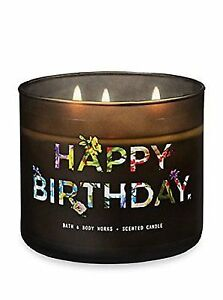 Bath And Body Works Vanilla Bean Happy Birthday 3 Wick Candle For