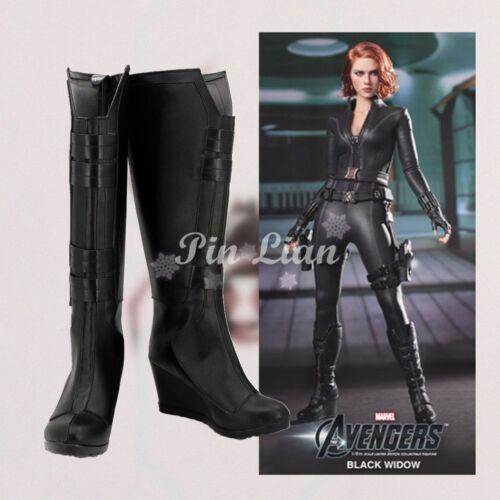 Marvel Avengers Civil War Black Widow Natasha Boots Shoe Heroine Cosplay Costume
