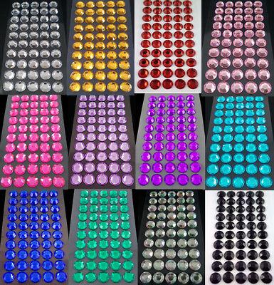 verschiedene Farben selbstklebende Schmucksteine// Glitzersteine rund 3 mm