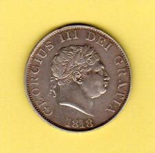 1818 George III British Silver Half Crown Great Britain