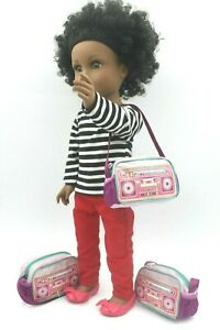 American Girl 3pcs backpack Shoulder Bags kit 18/'/' doll accessories fit