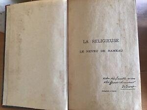 DIDEROT-LA-RELIGIEUSE-LE-NEVEU-DE-RAMEAU-Flammarion-Signee