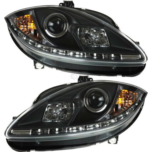 Scheinwerfer Set für Seat Leon Typ 1P Bj 05-09 LED klar//schwarz Dragon Lights