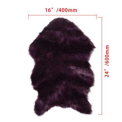 Faux Fur Sheepskin Rug Fluffy Mats Pad Room Sofa Bed Hairy Shaggy Floor Carpet