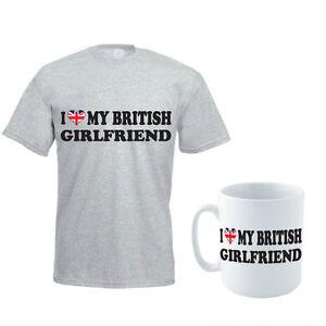 33ce57174 I LOVE MY BRITISH GIRLFRIEND - Britain / UK / Novelty Men's T-Shirt ...