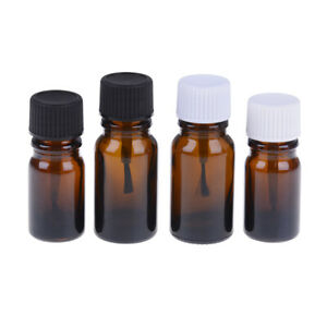 5-10ml-Glass-Empty-Nail-Polish-Gel-Bottle-Containers-Brown-brush-bot-DD