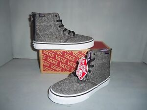 Youth Vans Camden High Top Sneaker Skate Shoes Black Tweed sizes ... a753ca01c