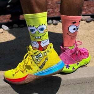 Nouveau-coton-peigne-Chaussettes-Hommes-Cartoon-HAPPY-FUNNY-Sock-Sponge-Bob-cadeau-de-Noel