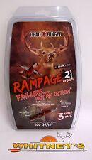 "Dead Ringer Rampage 100 Grain 1.5"" cutting diameter -2 Blade 3PK-DR4699"