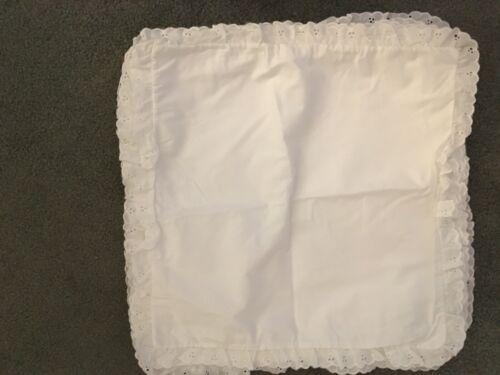 "7 15/""x15/"" Lace Pillow Case /& 4 Satin Sublimation Blanks Conde Dye Trans"
