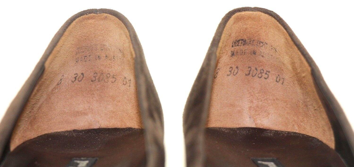 Paul Grün Suede Múnchen Taupe Braun Suede Grün High Block Heel Classic Pumps Größe US 10.5 b6601b