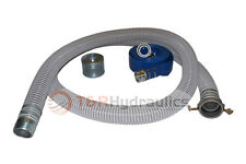 "1-1/2"" Flex Water Suction Hose Regular Trash Pump Honda Kit w/75' Blue Disc"
