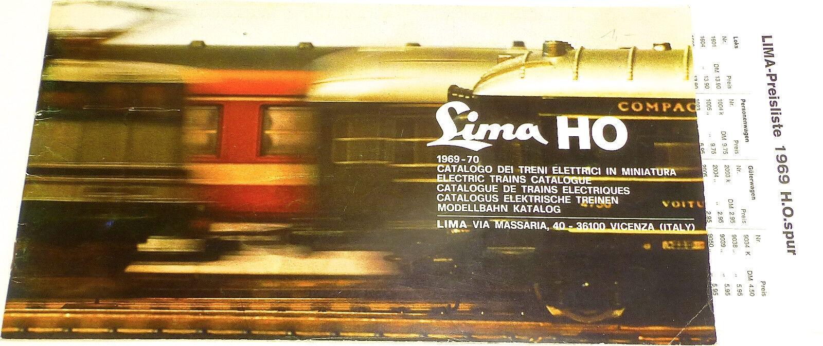 LIMA Katalog 1969   70 H0 å