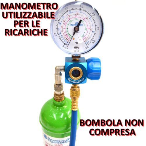 3S KIT CARICA E VUOTO POMPA 70 LT MANOMETRO RICARICHE GAS R32 R410A R407C R134A