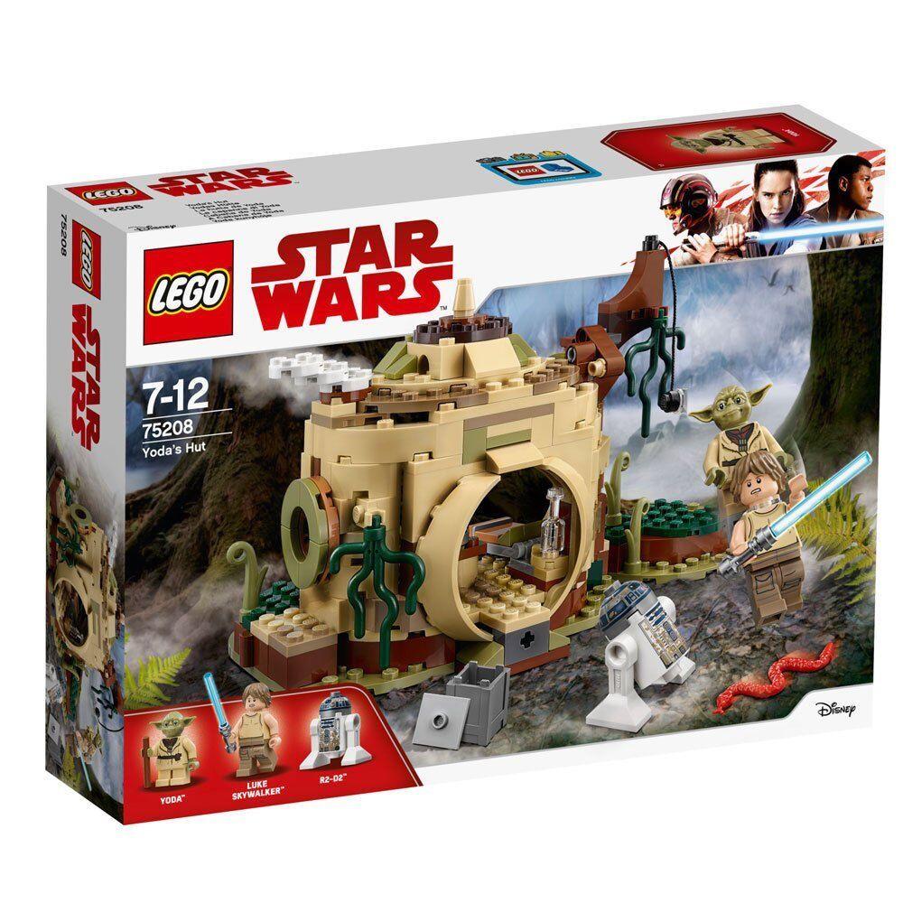 Lego Star Wars Yoda's Hut 75208 Luke Skywalker Yoda R2-D2 Minifigures 229 pcs
