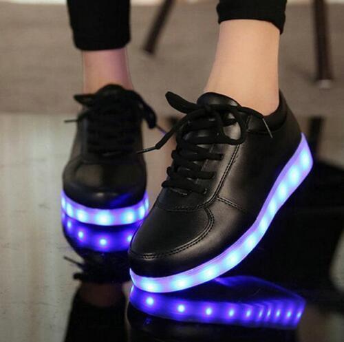 Men/'s USB Charge Led Light Shoes Women Sportwear Sneakers Lovers Luminous Shoes