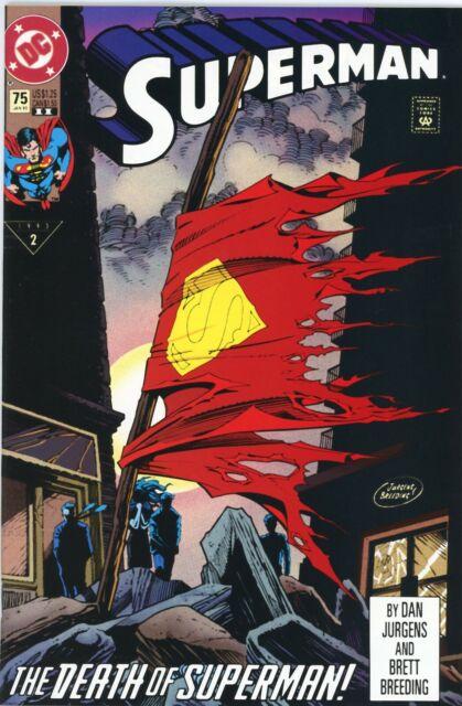 SUPERMAN #75 Death of Superman & Doomsday DC Comics 1993