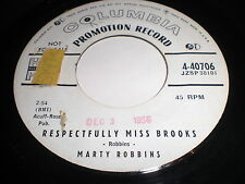 Marty Robbins: Respectfully Miss Brooks / You Don't Owe Me A Thing 45-Rockabilly