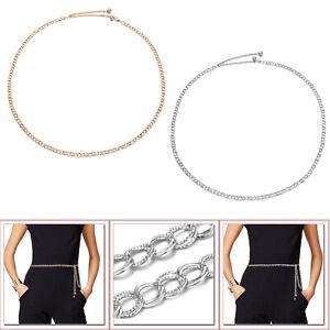 Damas Chicas Mujer Liso Cadena Cinturones para Fiesta Boda Eventos Wear 102cm