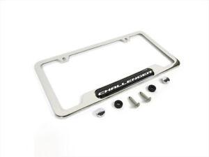 Dodge Challenger Chrome Metal License Plate Frame